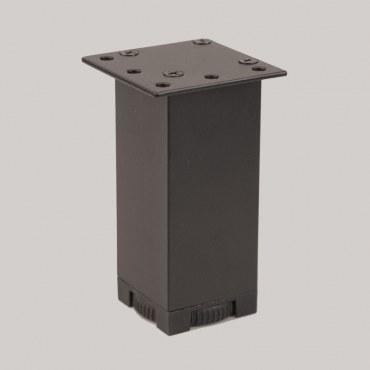 Picior mobilier reglabil 498 negru (40X40)